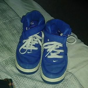 Blue Nike High Top Air Forces